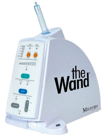 The Wand which provides almost pain-free numbing